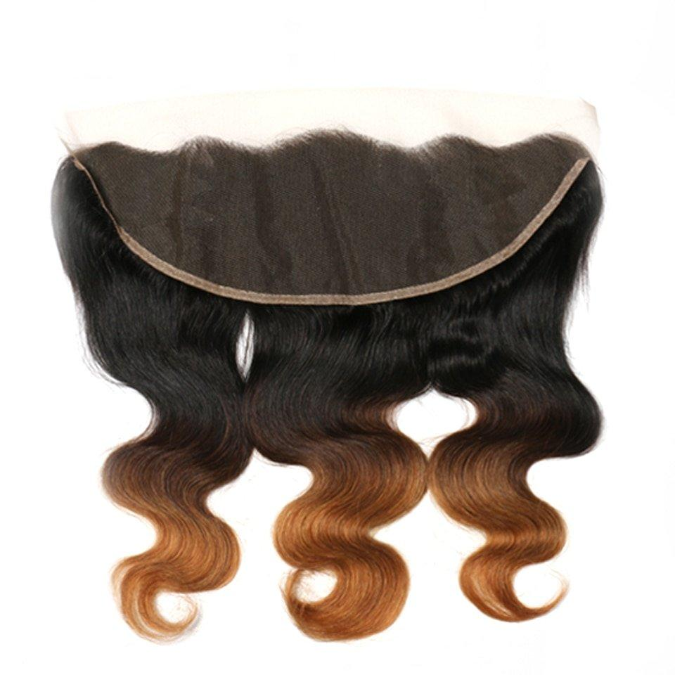 Swiss Ear To Ear Lace Frontal Closure 1B/4/27/30 Remy Ombre Body Wave Frontal Closure Human Hair Closure Top Brazilian Closure