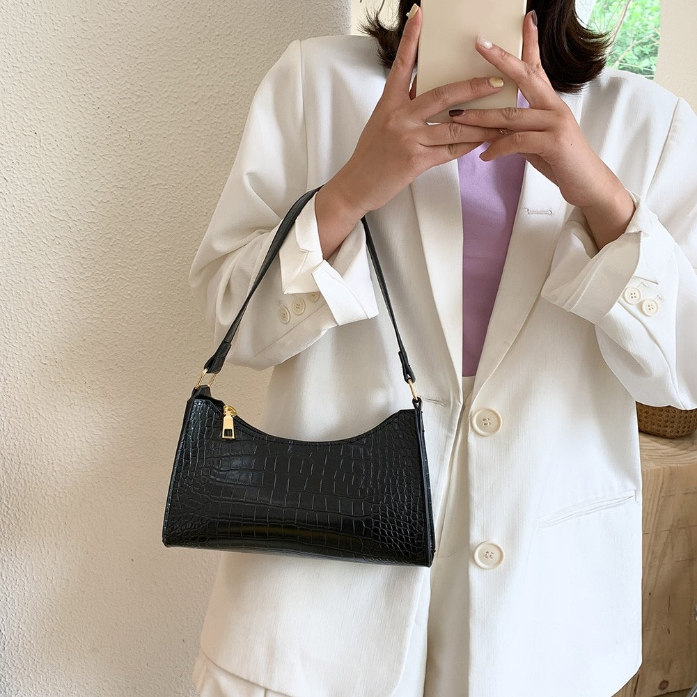 Women Leather Handbags Luxury Brand Crossbody Totes 2020 New Fashion Alligator Leather handbag Lady Shoulder Messenger Bags