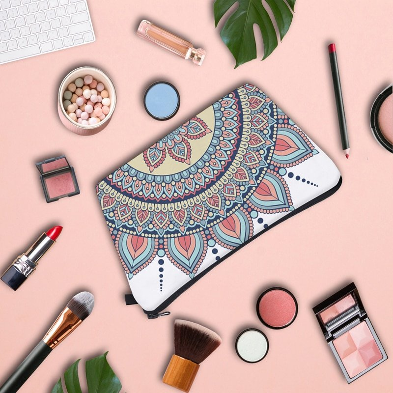 Jom Tokoy Water Resistant Makeup bag Printing Mandala Cosmetic Bag Lovely Cosmetic Organizer Bag Women Multifunction Beauty Bag