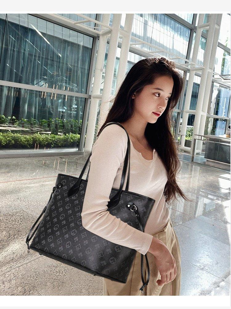 Neue Einfache Einkaufstasche Gedruckt Tote Tasche Schulter Tasche Handtasche Große Kapazität Bild Tasche Große Tasche Frauen Tasche